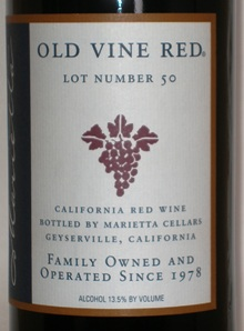 Marietta Cellars Old Vine Red Zinfandel Blend Lot No. 66 California - Rockwood & Perry (en-US)